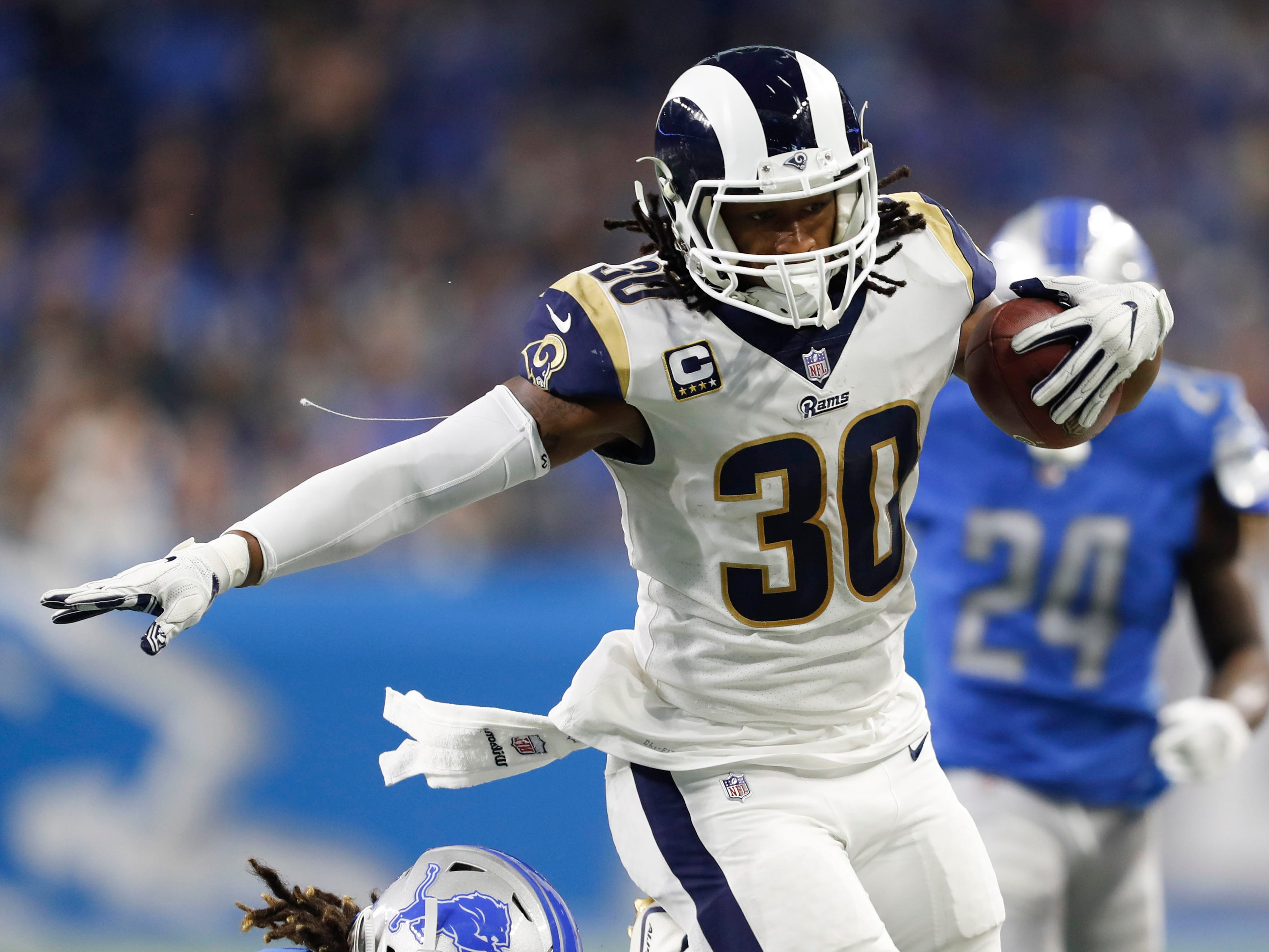 1. Rams (2): Only team with 11 wins. Only team to clinch playoff berth so far. Only team with two bona fide MVP candidates (Todd Gurley and Aaron Donald).