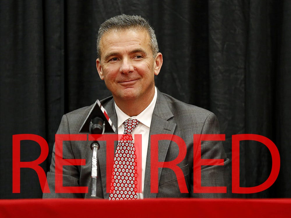 Urban Meyer announced he will retire from Ohio State following the Rose Bowl. He went 83-9 in seven seasons leading the Buckeyes, winning the 2014 national title.