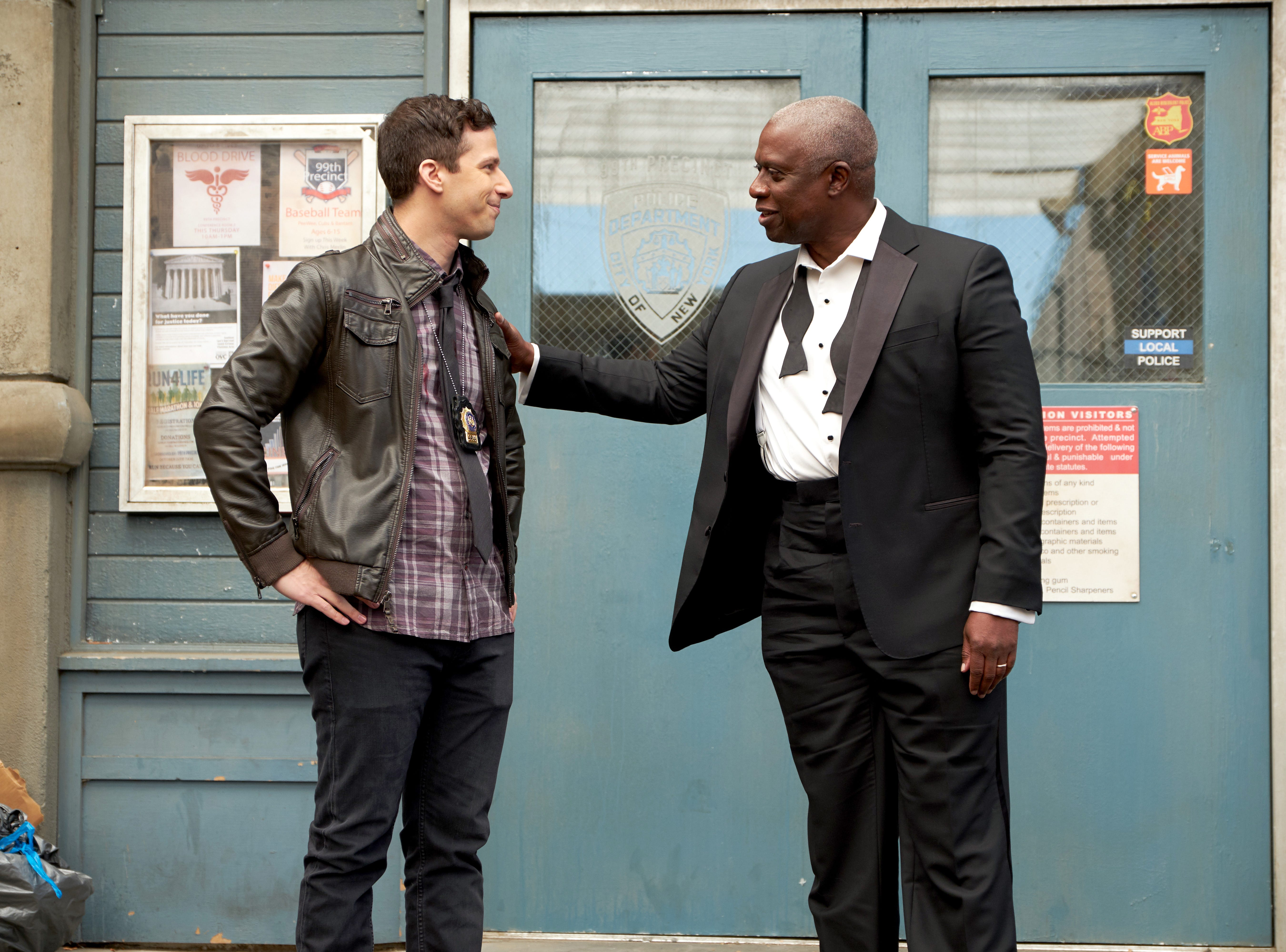 """Andy Samberg and Andre Braugher starred in Fox's """"Brooklyn Nine-Nine,"""" which will be making a move to NBC in January."""