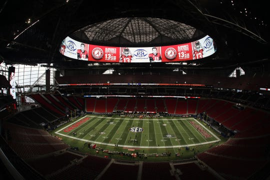 A general view of the stadium prior to the SEC championship game between Alabama and Georgia on Dec. 1, 2018.