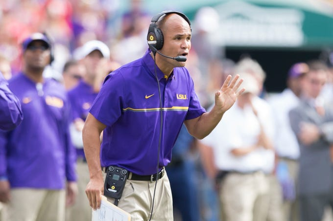 No. 1: Dave Aranda, LSU defensive coordinator: $2,500,000. A year after his salary was increased to $1.8 million, Texas A&M's interest in Aranda prompted LSU to renegotiate his contract again, this time giving him a four-year deal that pays $2.5 million annually. In 2012, Utah State's defensive coordinator, he was making $155,000.