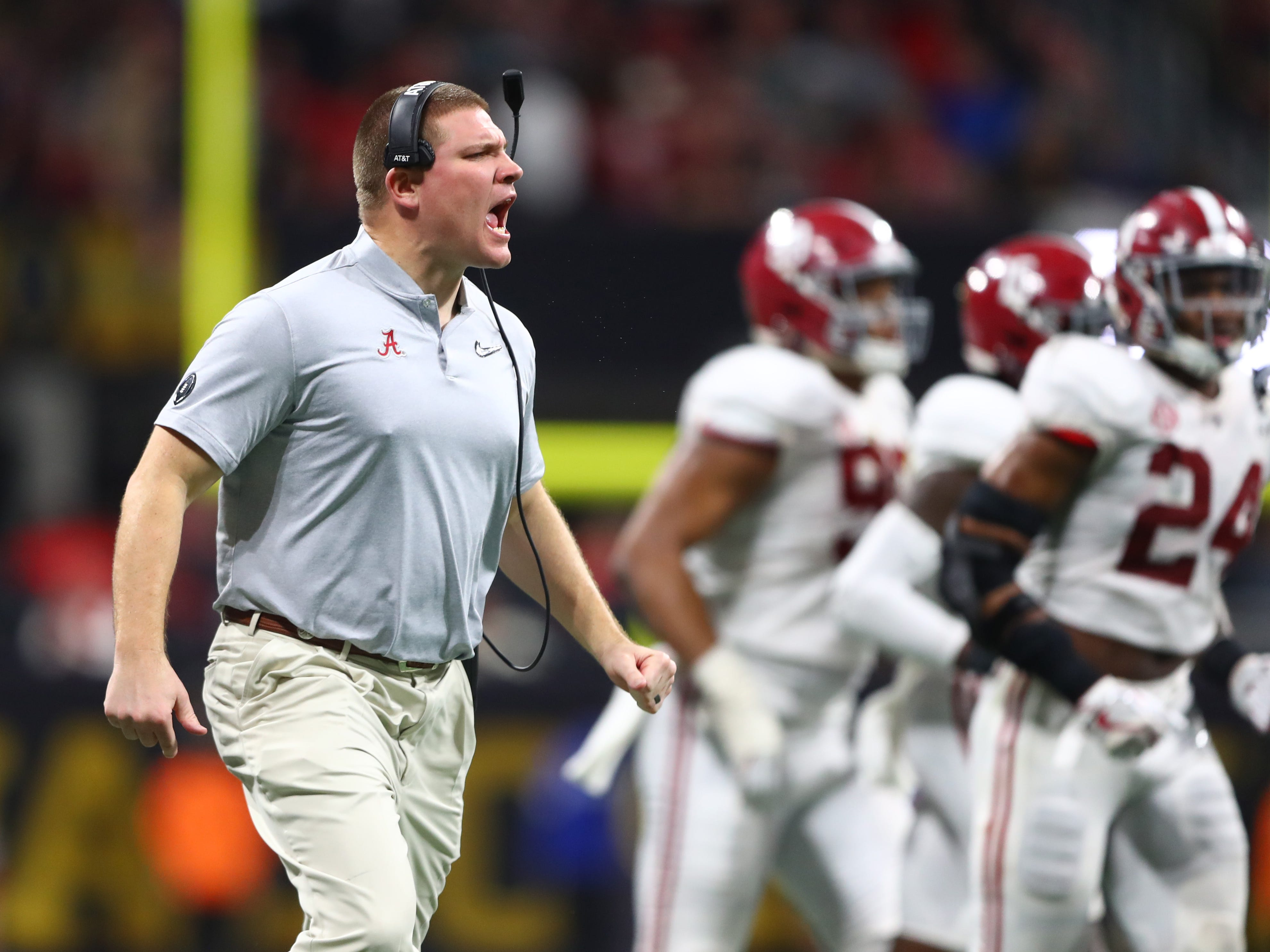 No. 18 (tie): Tosh Lupoi, Alabama defensive coordinator: $1,100,000. Long known for how well he recruits, Lupoi was put in charge of the Crimson Tide's defense after Jeremy Pruitt departed to become Tennessee's head coach. He made $425,000 at Alabama in 2015; $550,000 in 2016 and $950,000 last season, when he was the team's linebackers coach and getting paid more than at least 40 Bowl Subdivision head coaches.