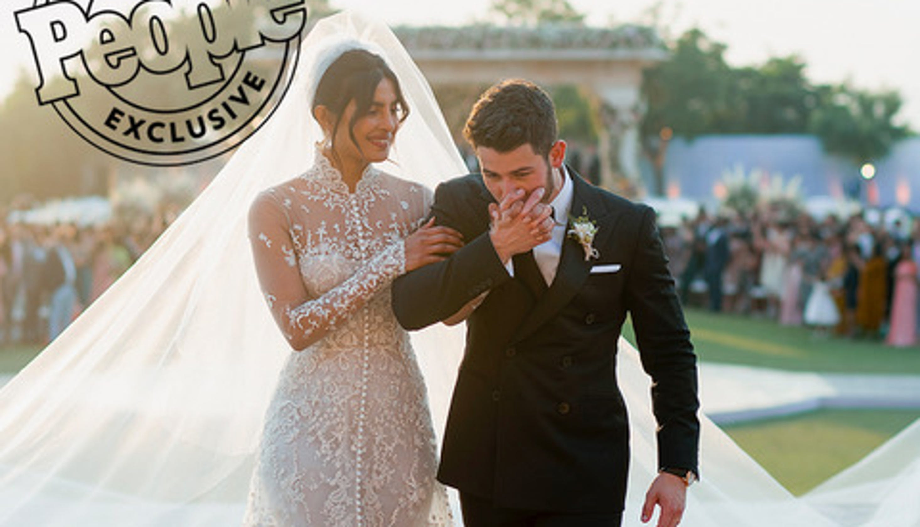 3eb7a8cfcfc See Priyanka Chopra s stunning Ralph Lauren wedding dress – with a 75-foot  long veil
