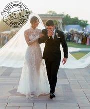 Priyanka and Nick on their wedding day.