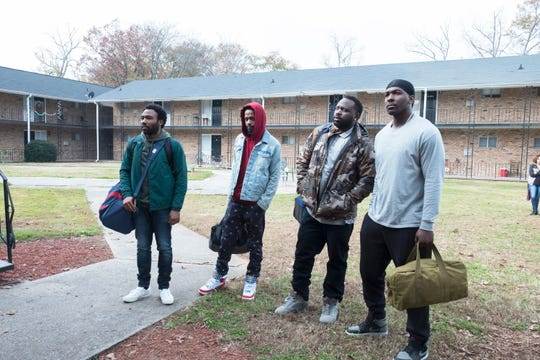 "FX's ""Atlanta"" with Donald Glover, Lakeith Stanfield, Brian Tyree Henry and  Khris Davis."