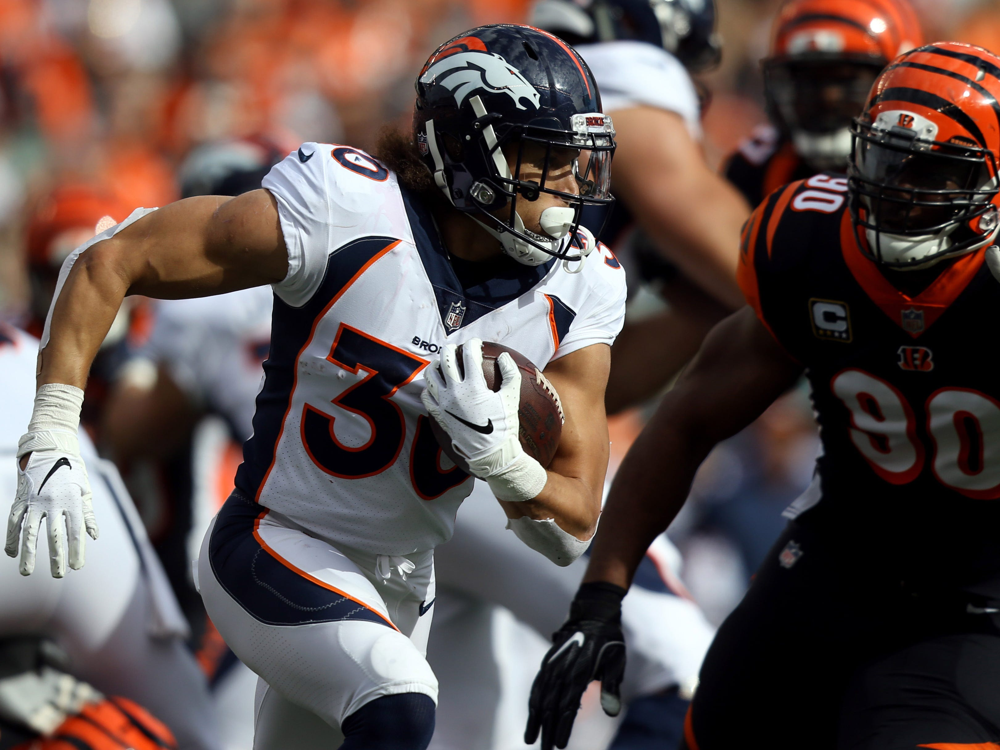 10. Broncos (11): Phillip Lindsay now leads AFC with 937 rushing yards. But Case Keenum's Broncos winning because he hasn't turned it over in last four games.