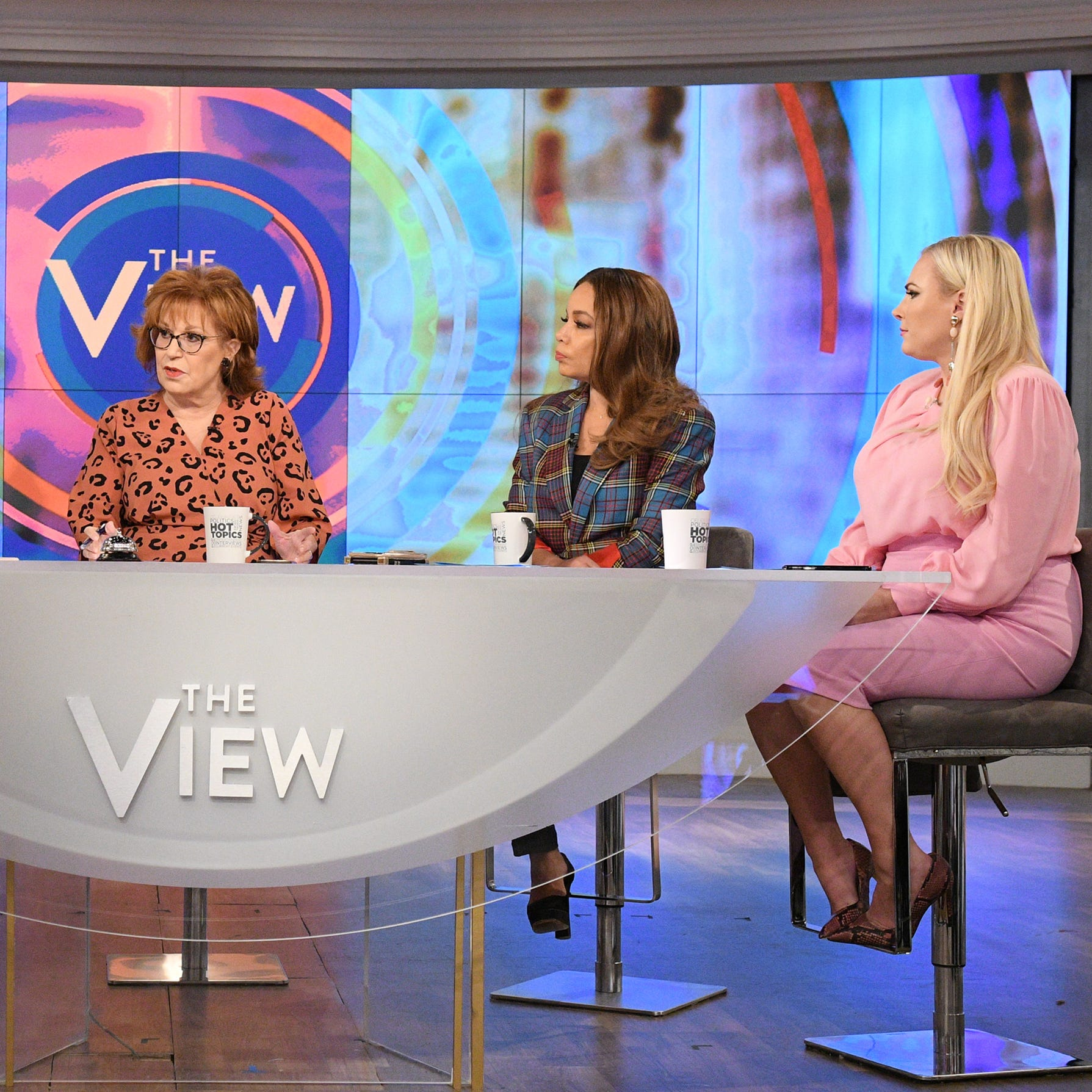 """The View"" co-hosts record a show in November."