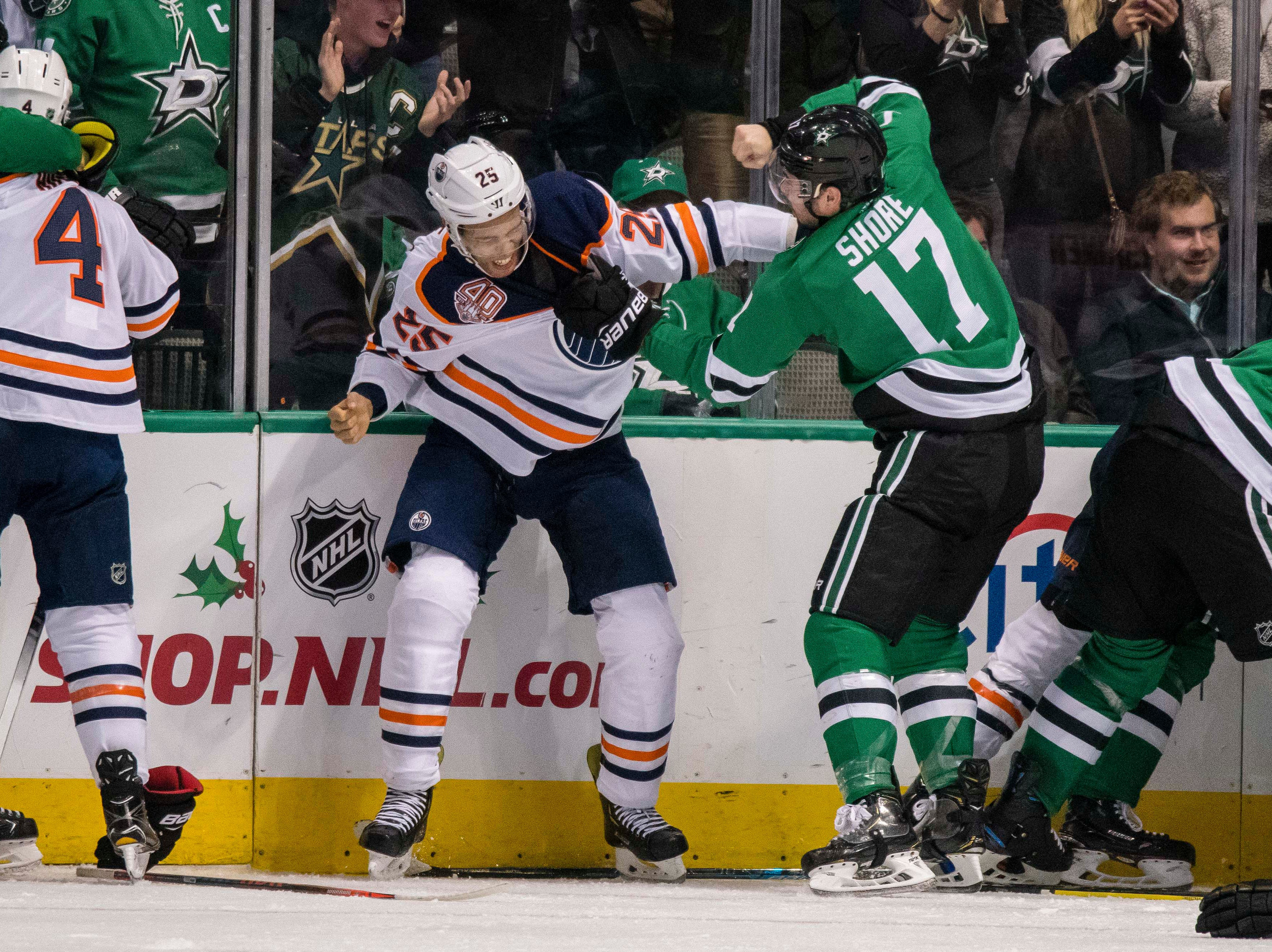 Dec. 3: Edmonton Oilers' Darnell Nurse vs. Dallas Stars' Devin Shore.