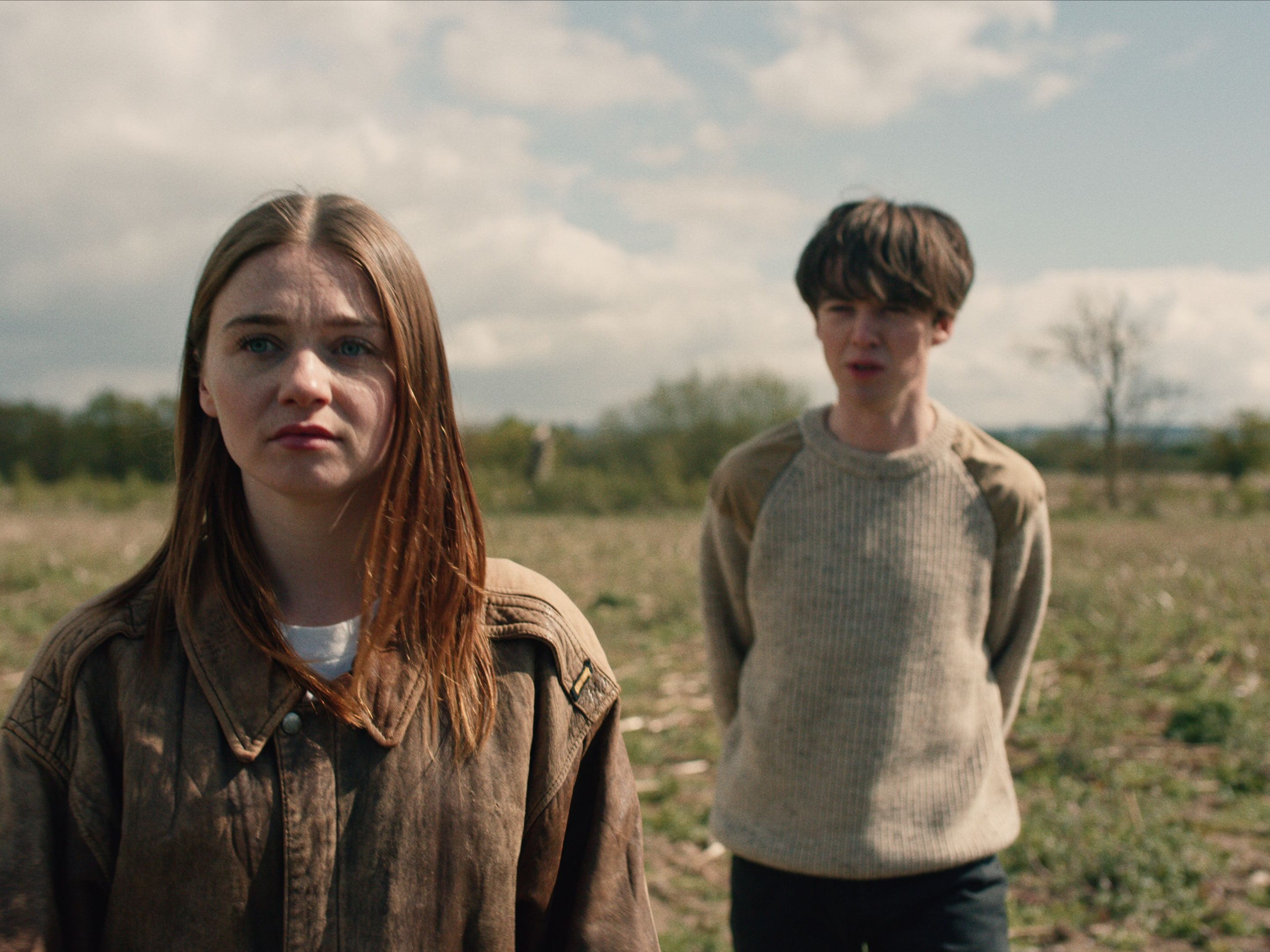 """Jessica Barden and Alex Lawther in """"The End of the F***ing World"""" (Netflix)"""