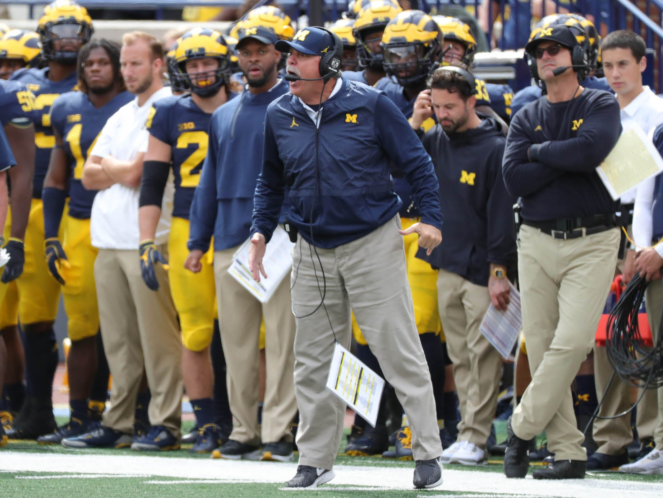 No. 10: Don Brown, Michigan defensive coordinator: $1,300,000. He is completing the second year of a five-year contract and got $300,000 of his total from a retention payment last April. That payment is scheduled to increase to $400,000 in 2019, and his total annual pay is set to remain at $1.4 million for the rest of his deal.