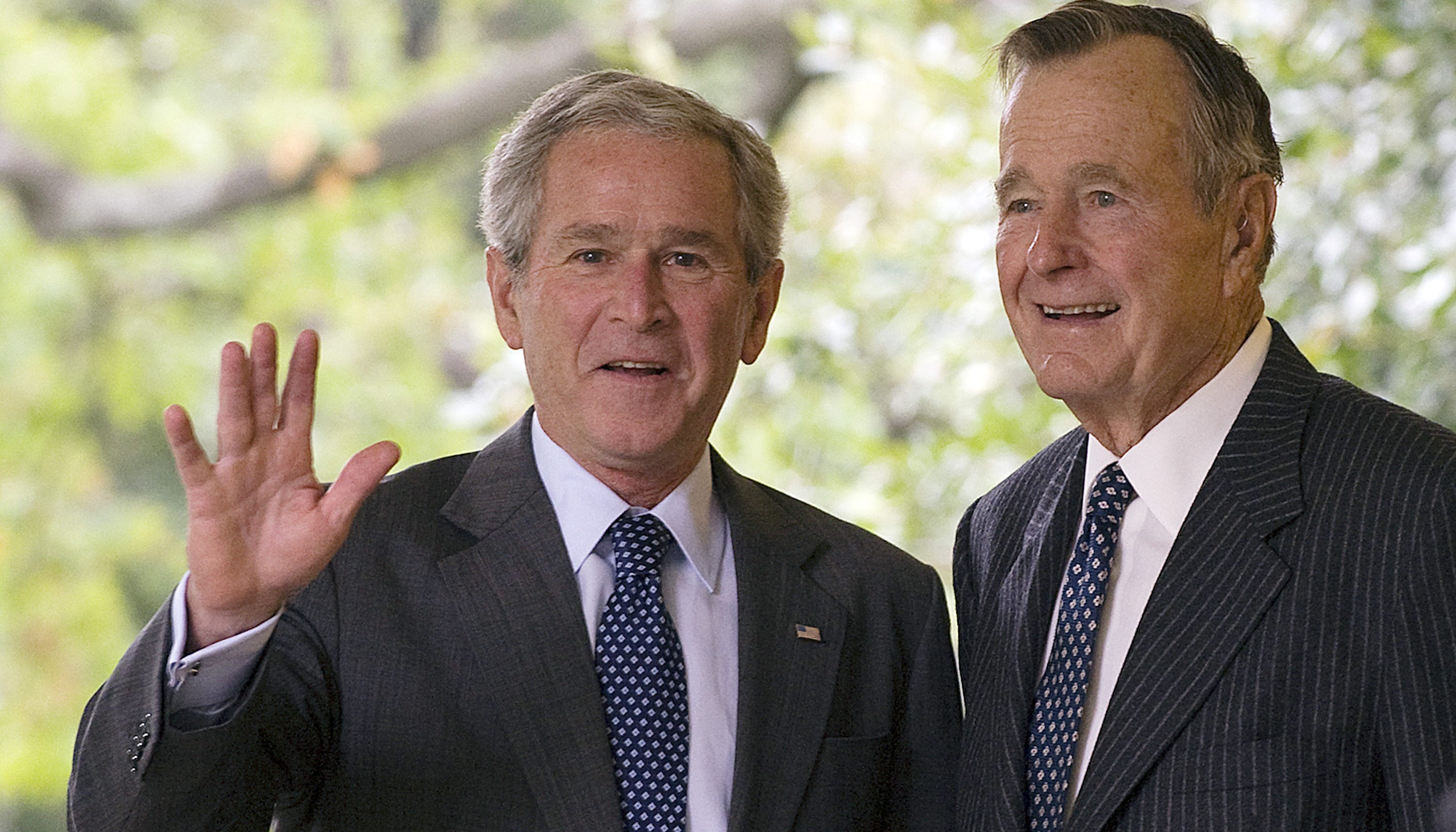 George H W Bush And George W Bush Love And A Bit Of A Rivalry