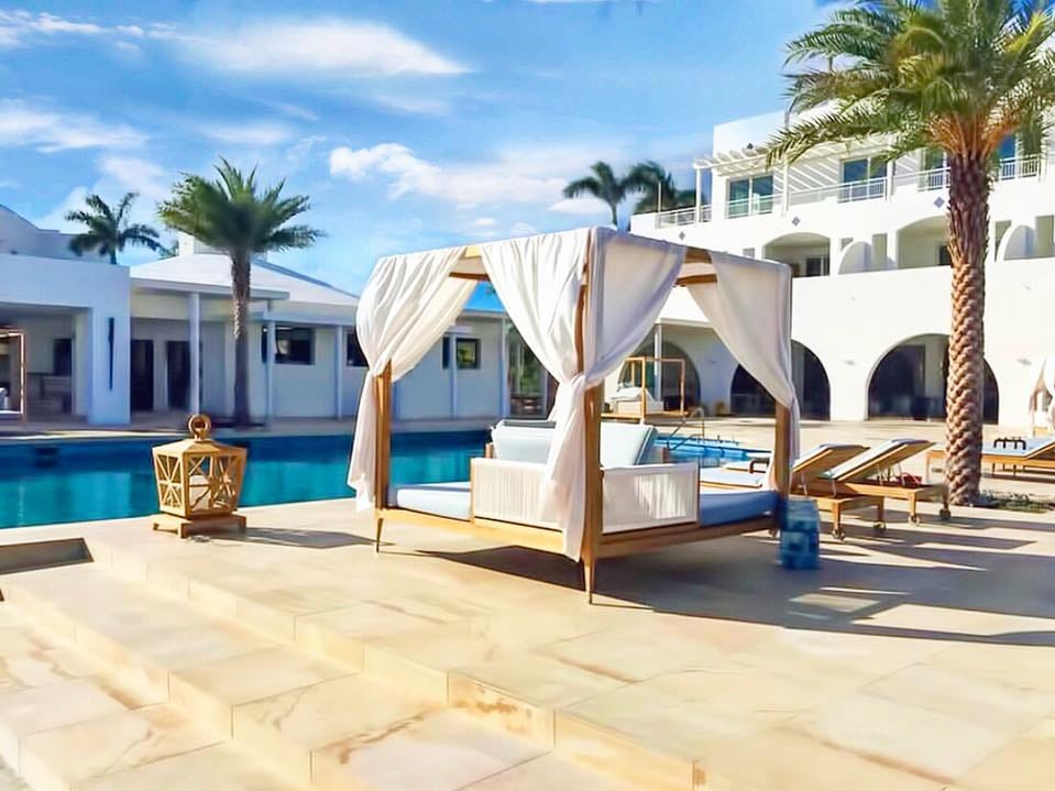 On Anguilla, CuisinArt Golf Resort & Spa is again available with 91 suites and seven villas on Rendezvous Bay.