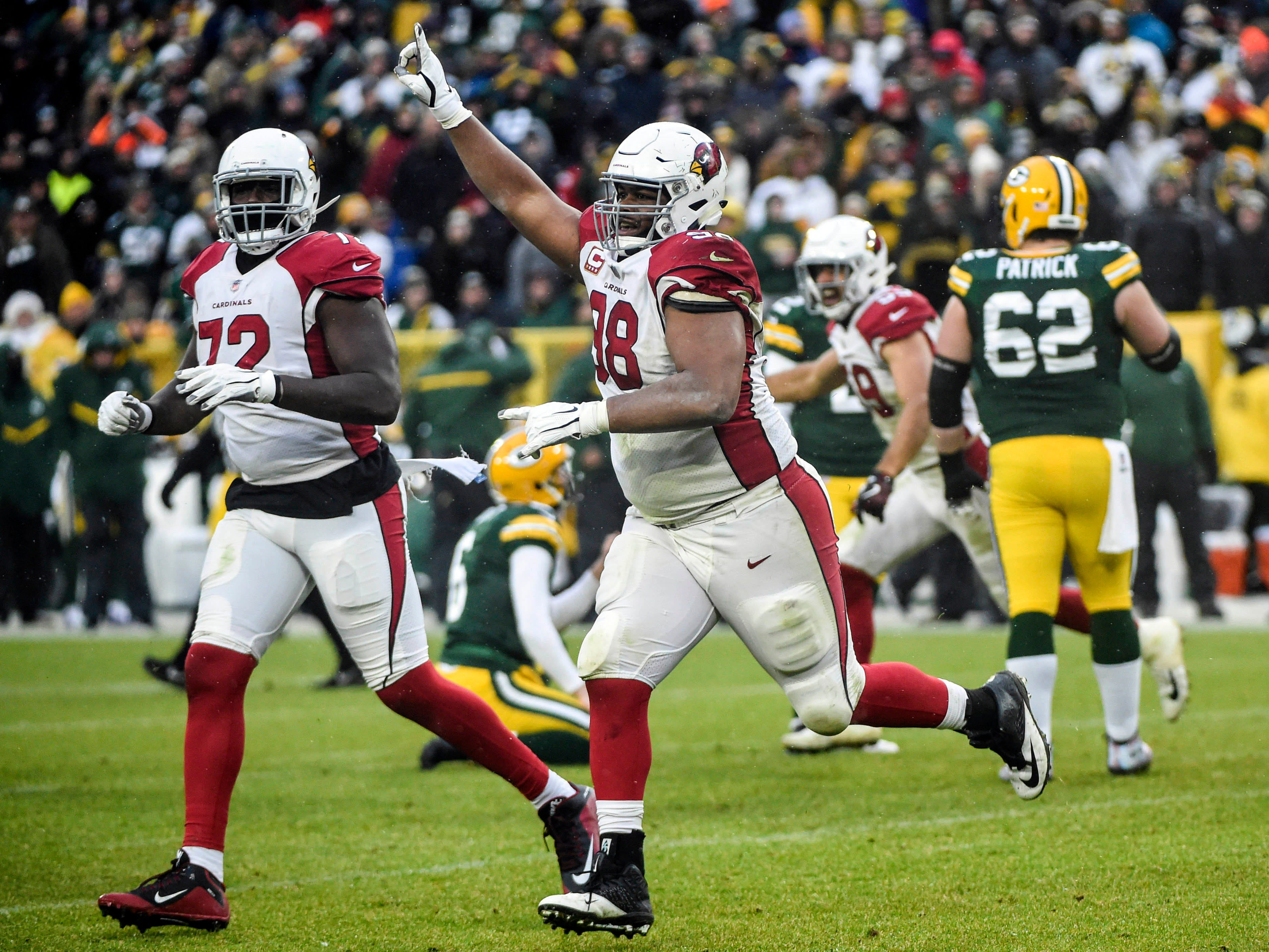 31. Cardinals (32): Say what you want about Packers, but don't call Cards quitters any longer after they won first game in Green Bay in nearly seven decades.