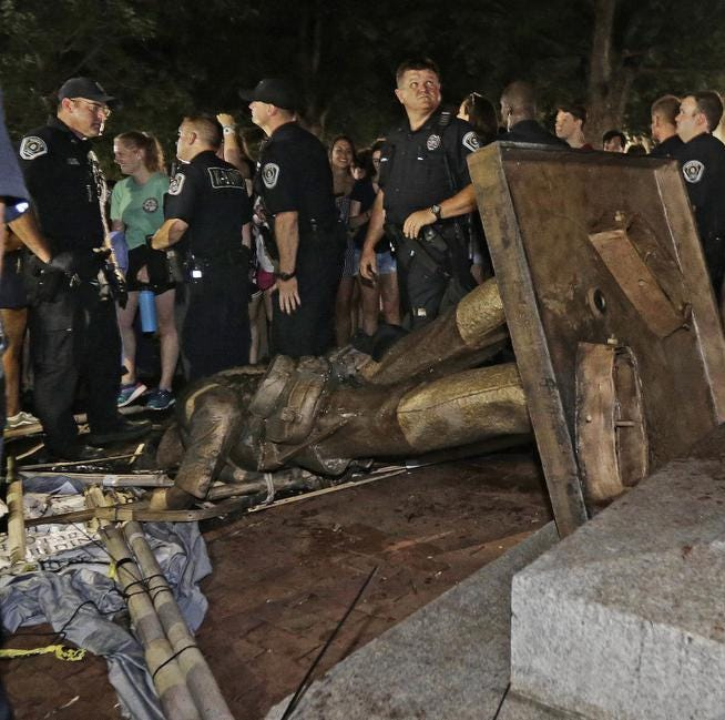 UNC Chancellor Carol Folt resigns, approves removal of 'Silent Sam' Confederate statue