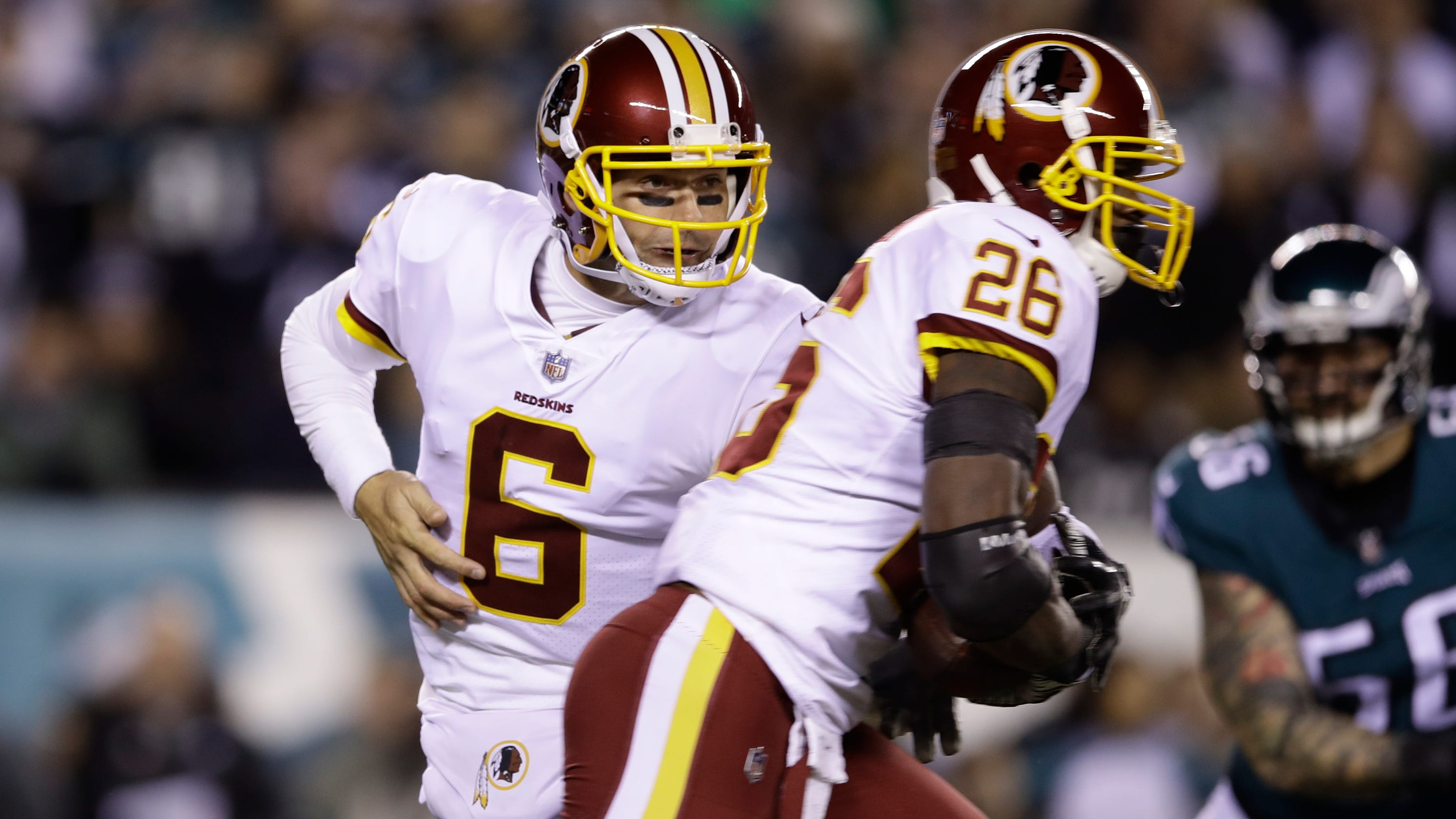 2a58b2c13 Mark Sanchez replaced injured Colt McCoy in Redskins  game vs. Eagles on  Monday night