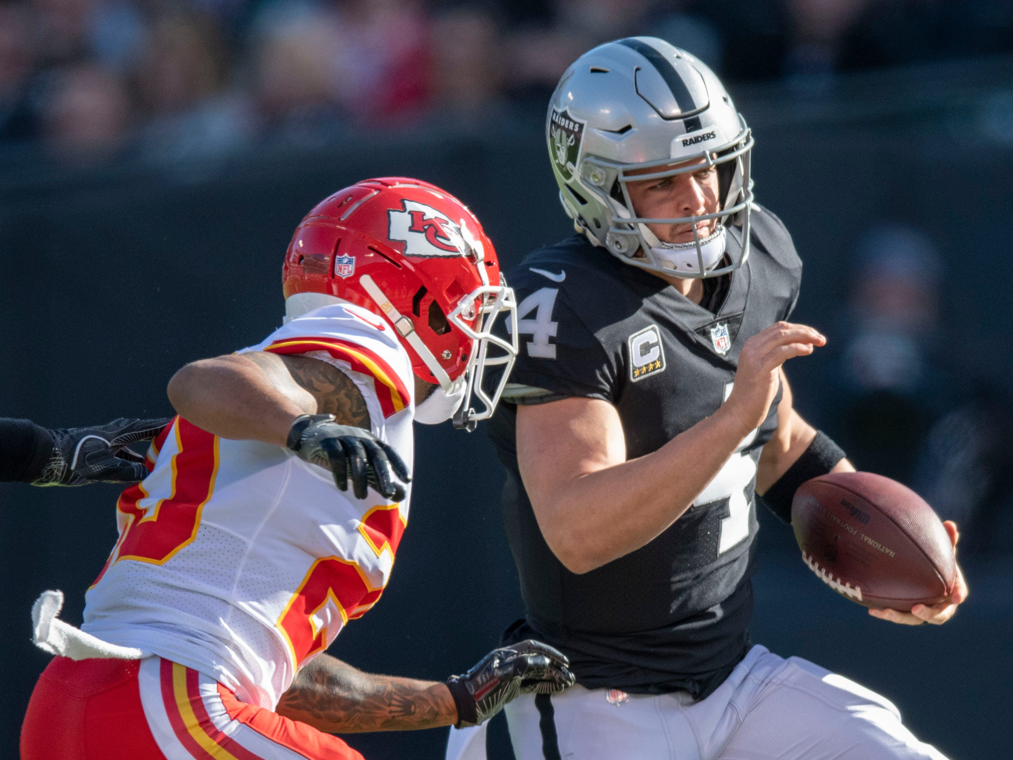 30. Raiders (31): Gave fans good show Sunday, including season-best 171 rush yards. But as A's reveal plans, how many games do Raiders have left in Oakland?