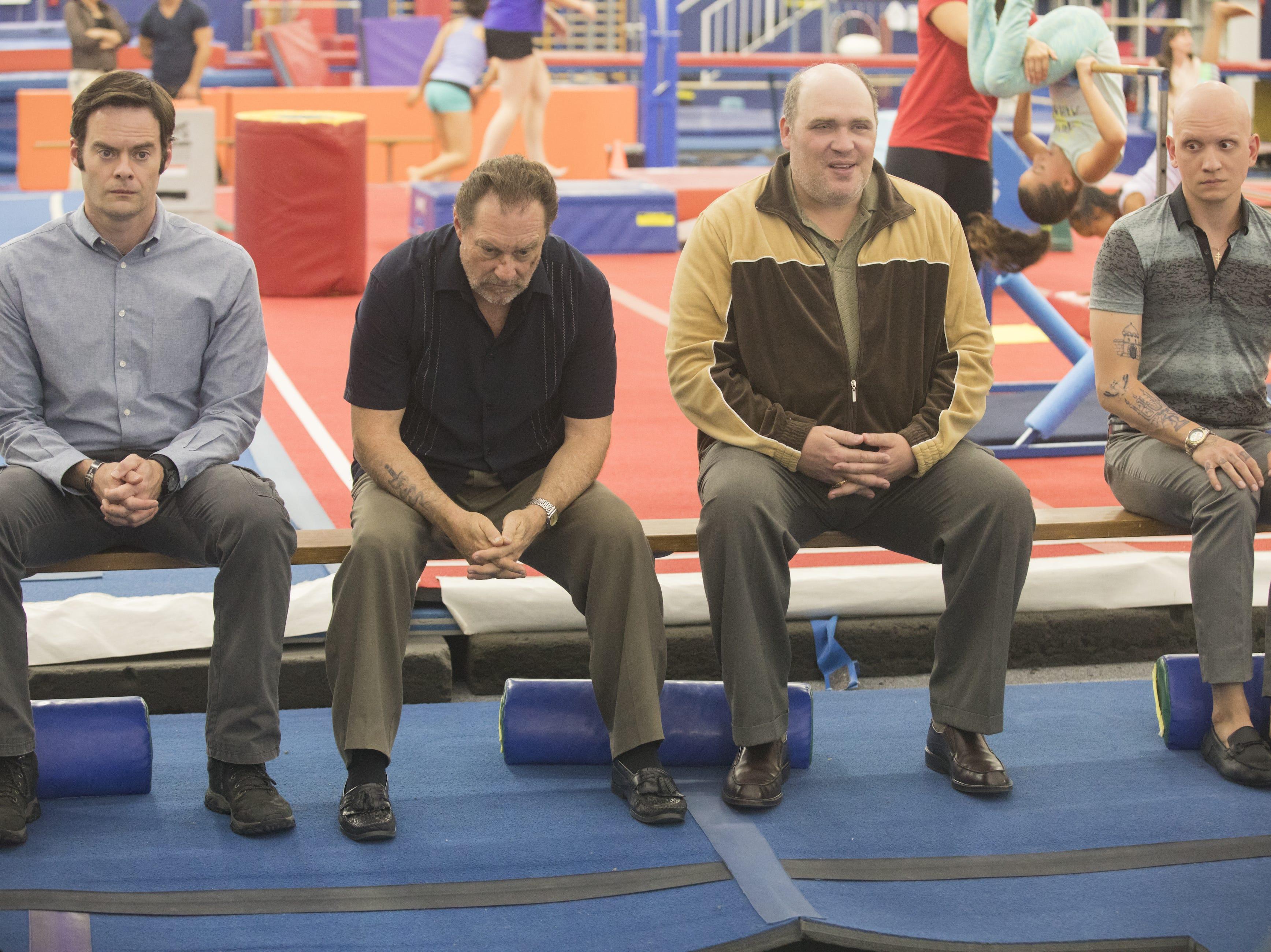 """Bill Hader Stephen Root, Glenn Fleshler and Anthony Carrigan in HBO's """"Barry."""""""