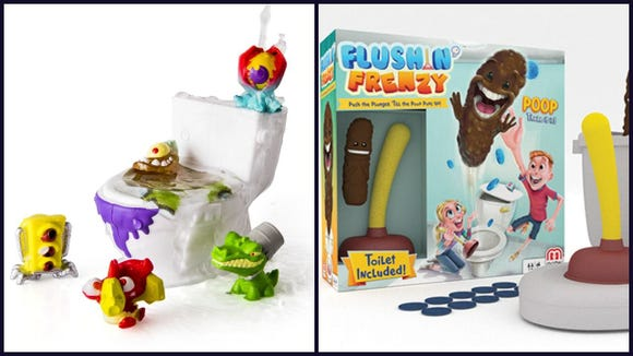 A 2018 trend in holiday toys is in gross games and toys. In particular, poop-themed toys.