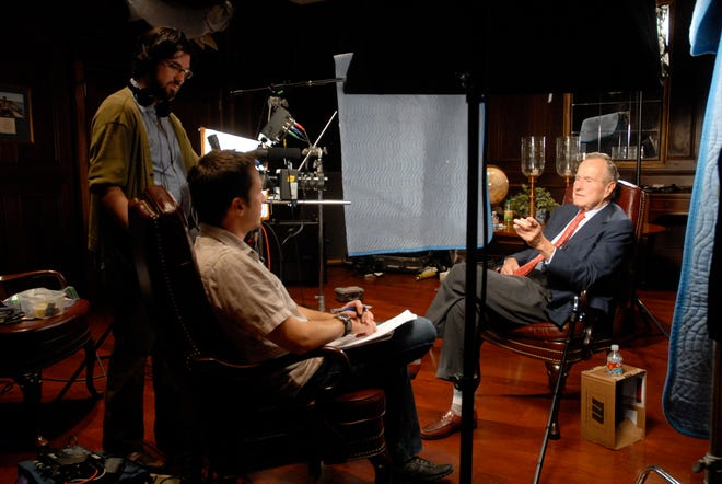"One of the first interviews with George H.W Bush for ""41"" in College Station, Texas."