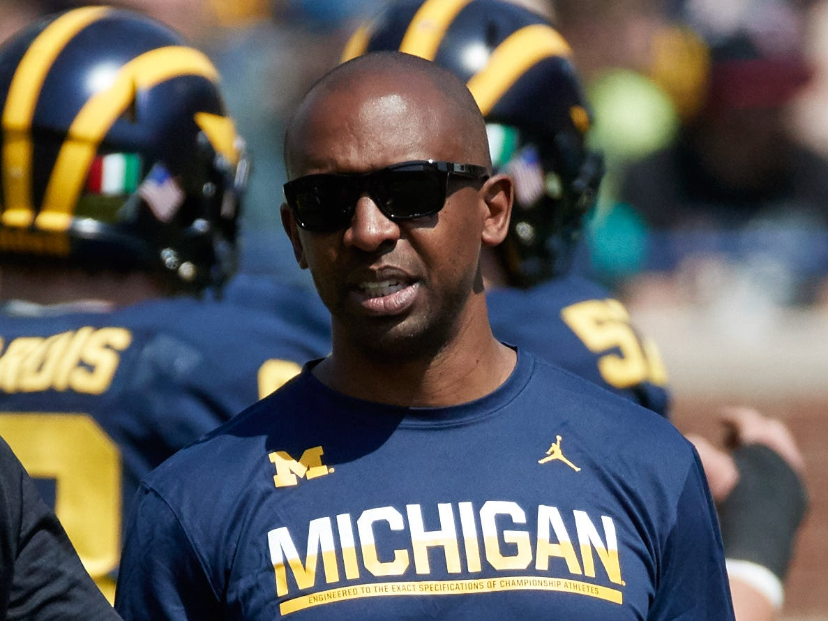 No. 8: Pep Hamilton, Michigan passing game coordinator: $1,450,000. In his second year at Michigan after spending much of his coaching career as an NFL quarterbacks coach. His compensation total includes a $450,000 retention payment he received for being with the Wolverines on April 1, 2018. He's scheduled to get a $250,000 payment in April 2019 while his base salary will remain at $1 million.