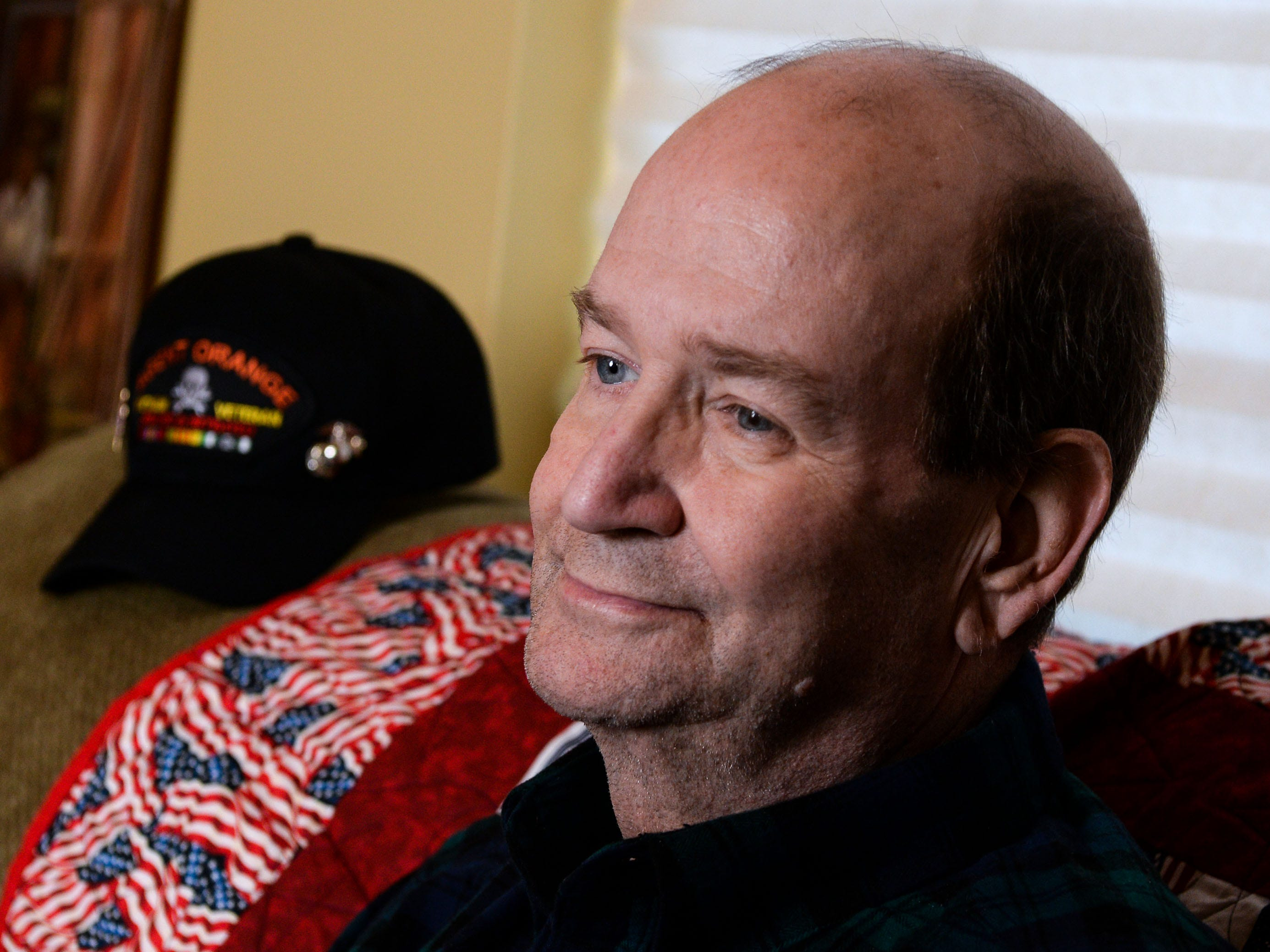Vietnam Veteran Billy Konrad talks about dealing with illnesses, Veterans care, and surgery during an interview at his home in Anderson in December.