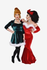 Jinkx Monsoon, left, and BenDeLaCreme are on the road together this December.
