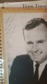 George H.W. Bush autographed a photo to Bill Burns.