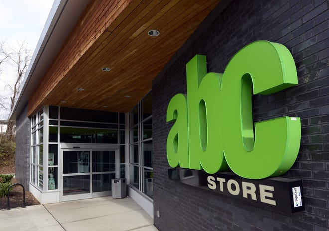 ABC stores in Buncombe County are all in incorporated areas, including this one on Tunnel Road.