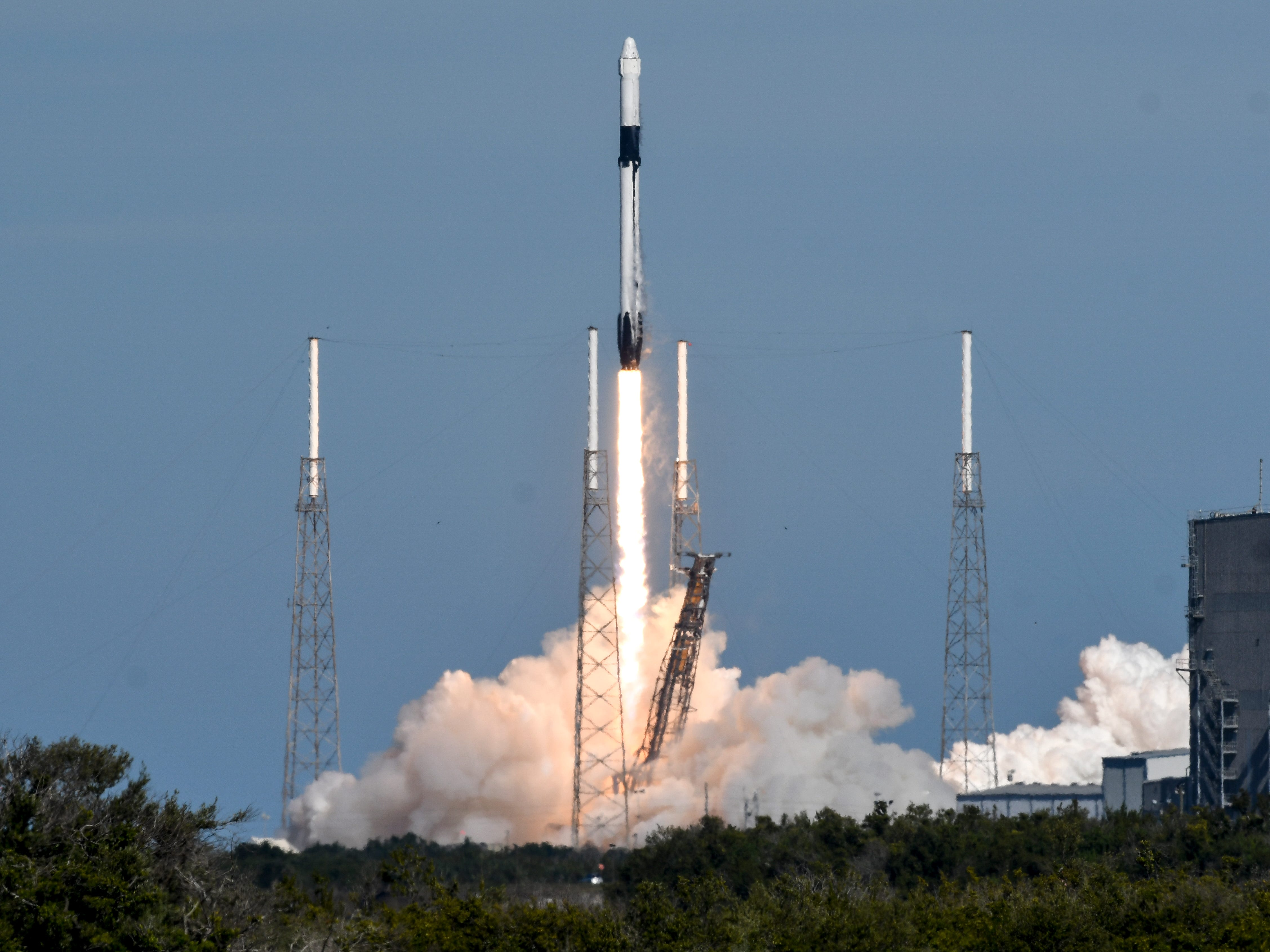 A SpaceX Falcon 9 rocket lifts off from Complex 40 at Cape Canaveral Air Force Station Wednesday, Dec.5, 2018. The rocket is carrying supplies for the International Space Station.