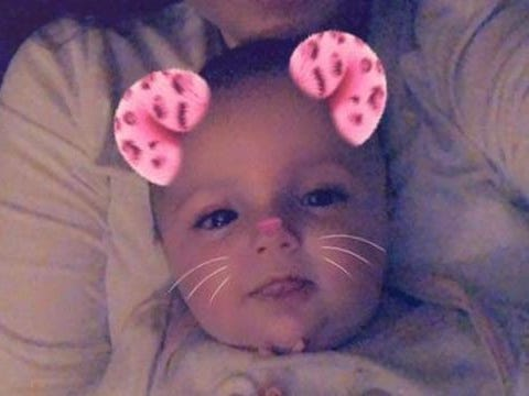 3-month-old Harlow was hospitalized in critical condition late Monday with injuries deputies say were inflicted by her father, Andrew Shelley.