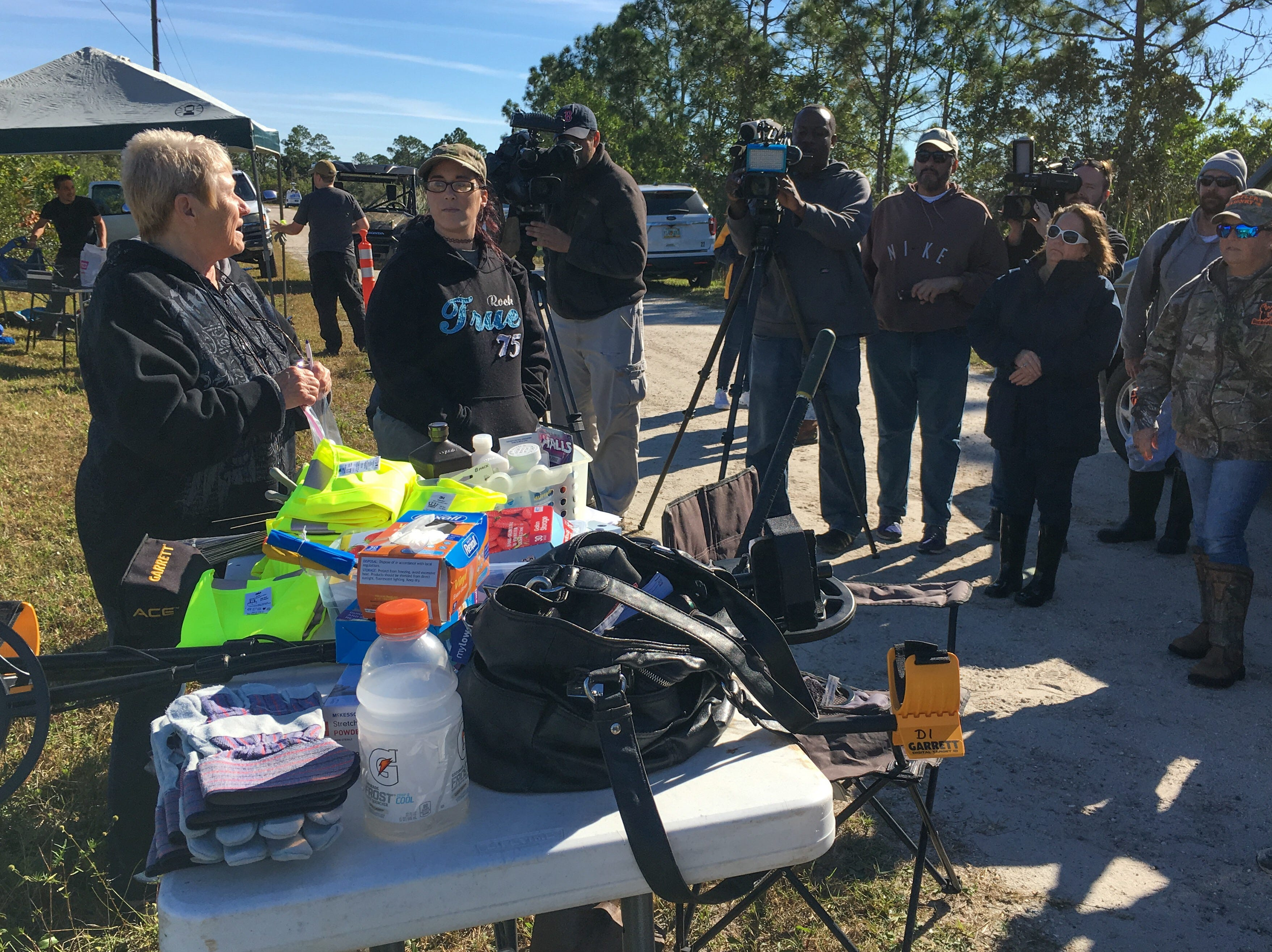 A search for Brandy Hall's remains was underway Dec. 5, 2018, in the Palm Bay woods and wetlands. Hall, a volunteer firefighter, disappeared in 2006.