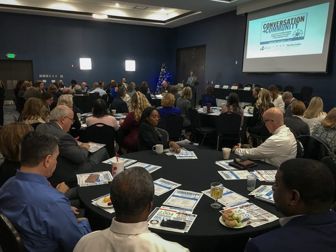 FLORIDA TODAY and LEAD Brevard hosted a Community + Conversation event at the Holiday Inn in Viera on Wednesday to discuss what local schools are doing to address mental health issues and offer vocational programs.