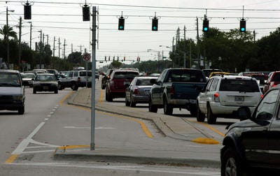 Power outage impacts parts of Palm Bay after a contruction crew strikes line