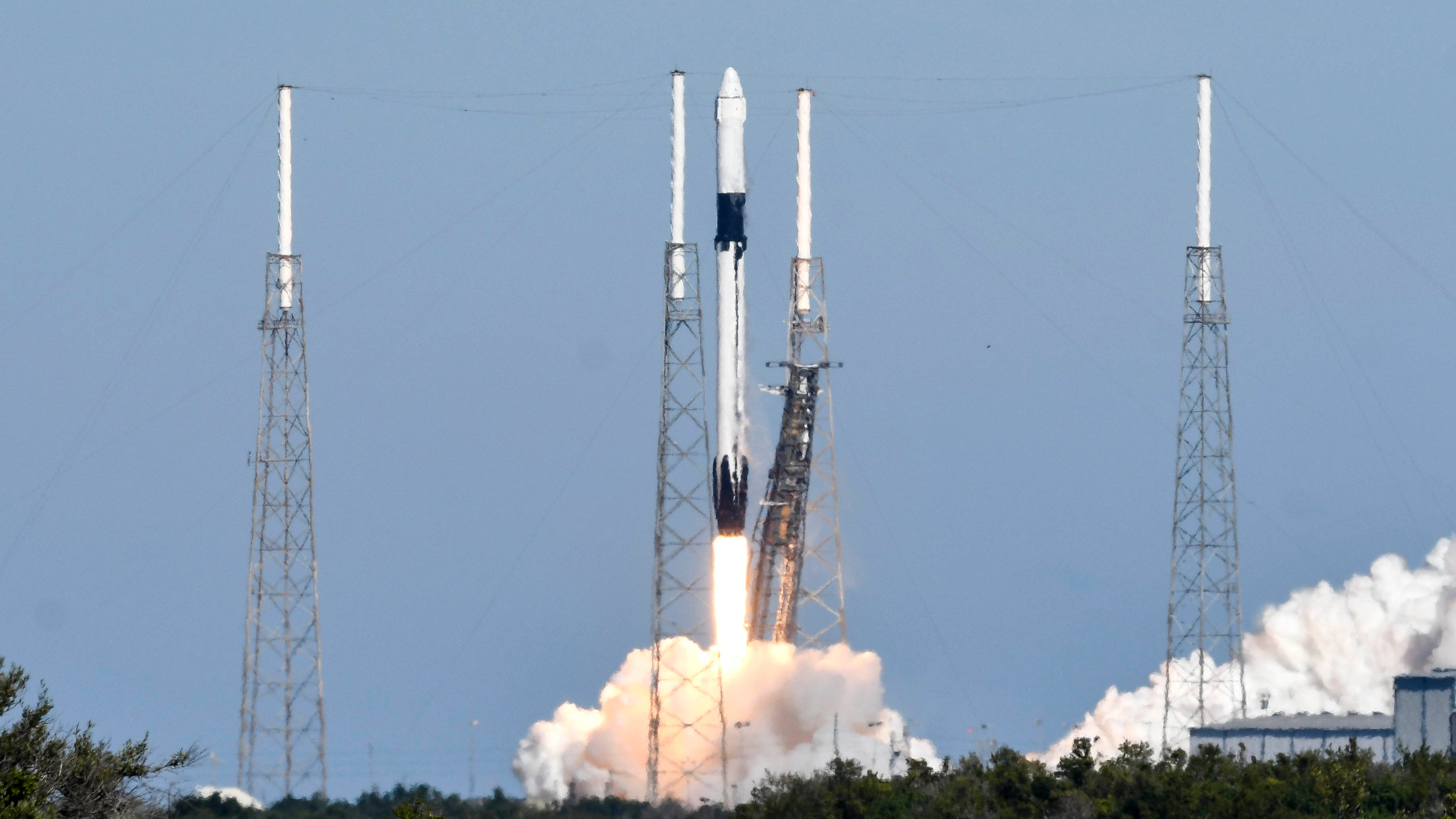 A SpaceX Falcon 9 rocket lifts off from Complex 40 at Cape Canaveral Air Force Station Wednesday, Dec. 5, 2018. The rocket is carrying supplies for the International Space Station.