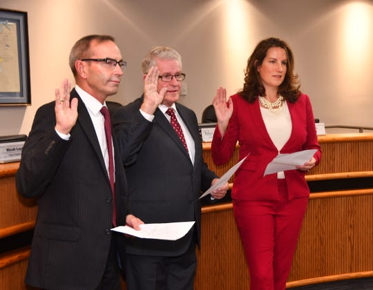 At Wednesday's Canaveral Port Authority meeting, Commissioners  Wayne Justice, Jerry Allender and Robyn Hattaway were sworn in for new four-year terms.
