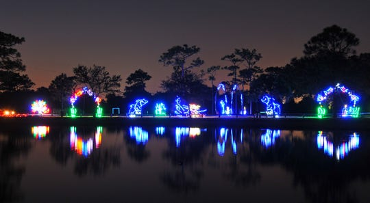 The annual Space Coast Lightfest is being held at Wickham Park in Melbourne.