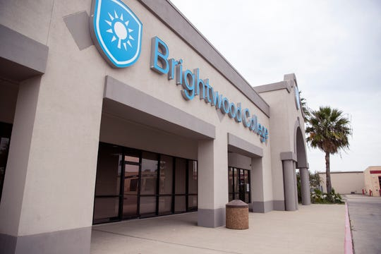 The front of Brightwood College in Corpus Christi, Texas.