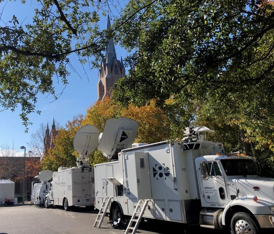 The services in Houston for former President George H.W. Bush attracts media coverage from across the nation.