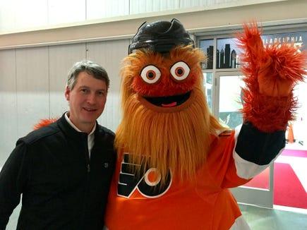 Chuck Fletcher met the Flyers' most popular employee Tuesday. The Fletcher Era begins with Thursday's game.