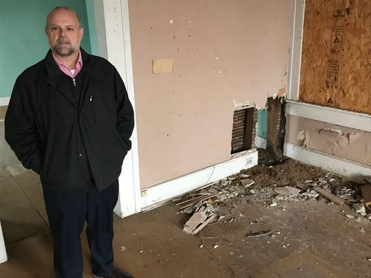 Chillicothe & Ross County Public Library Director James Hill talks about some of structural issues in the former Kingston branch library's downtown location that forced the library to abandon the building for a temporary home.
