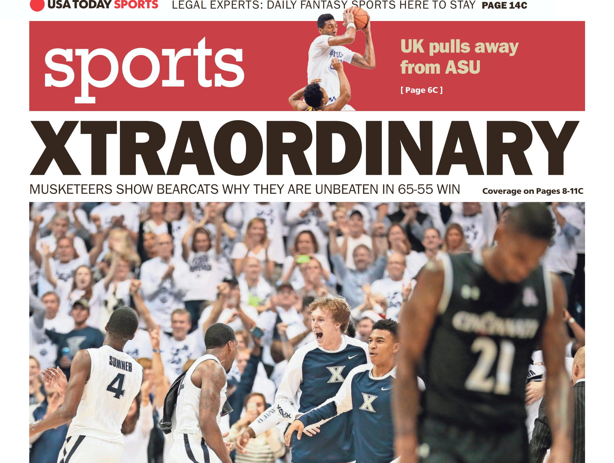 The 2015-16 season had both teams ranked in the Top 25 for the first time in over 20 years. Xavier came out on top, 65-55.
