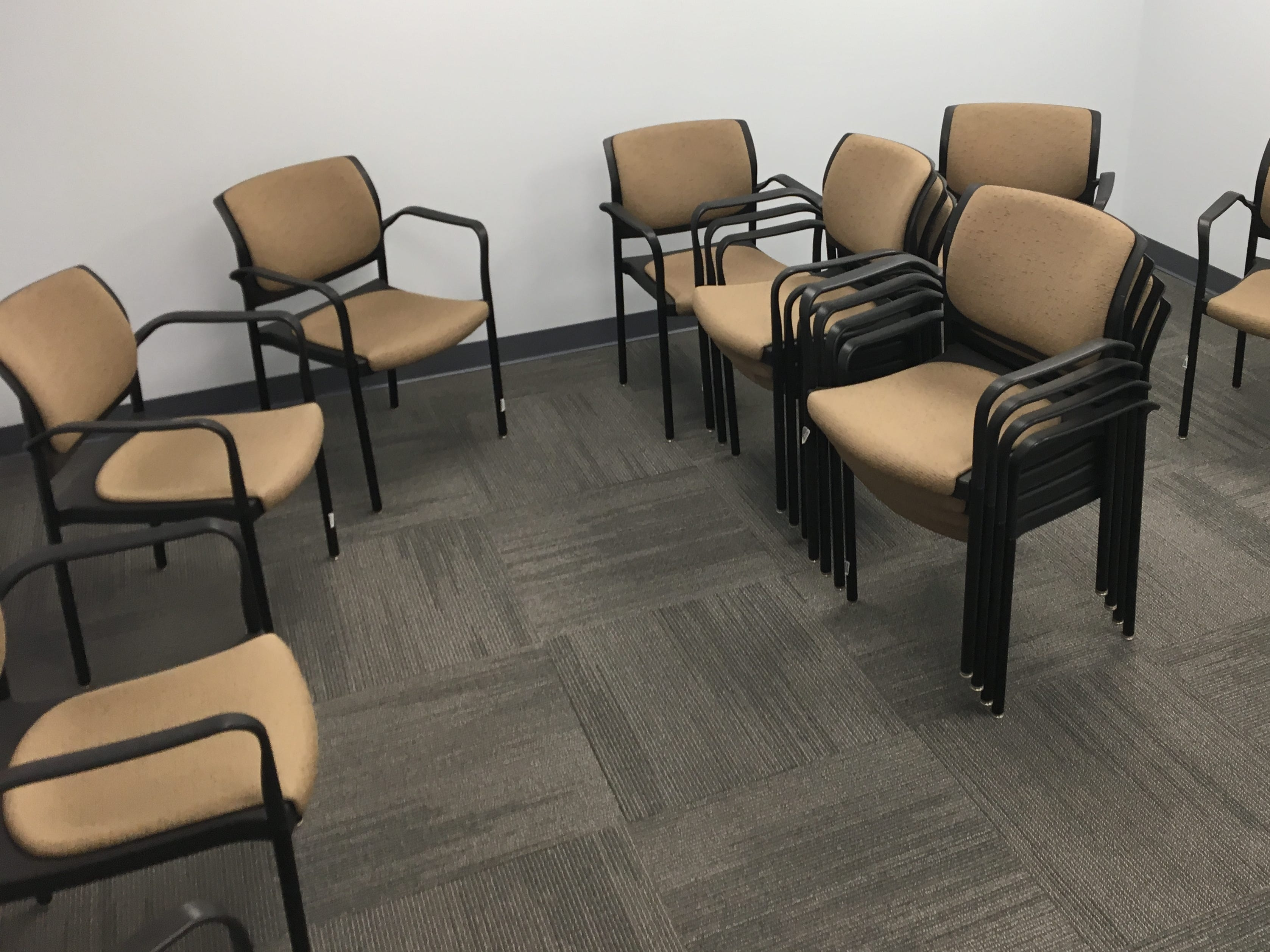 One of the meeting rooms for group sessions. Project 180's approach views addiction as a disease and believes that immediate access to care is imperative.