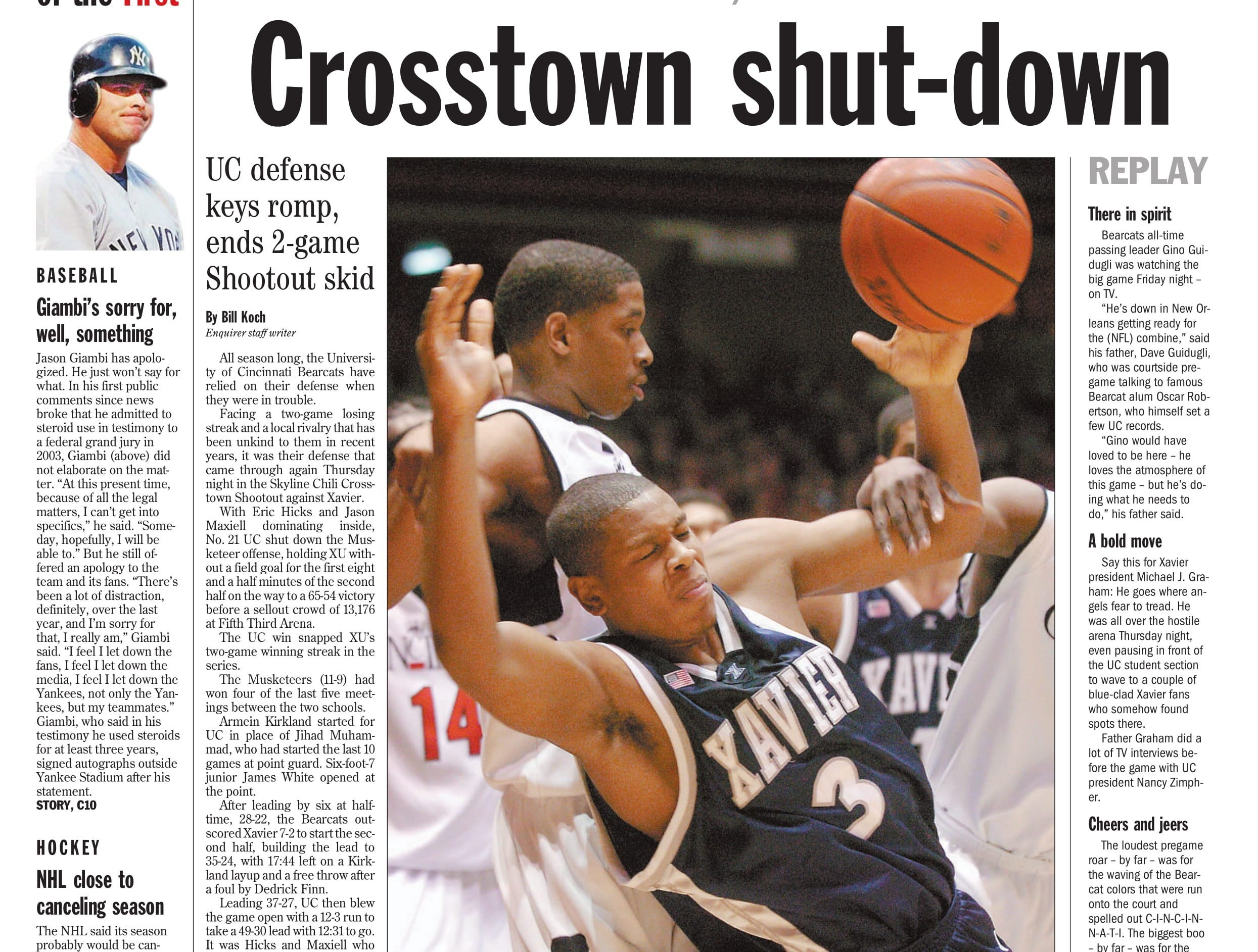 Bob Huggins' final Crosstown Shootout ended in a 65-54 UC victory in the 2004-05 season.