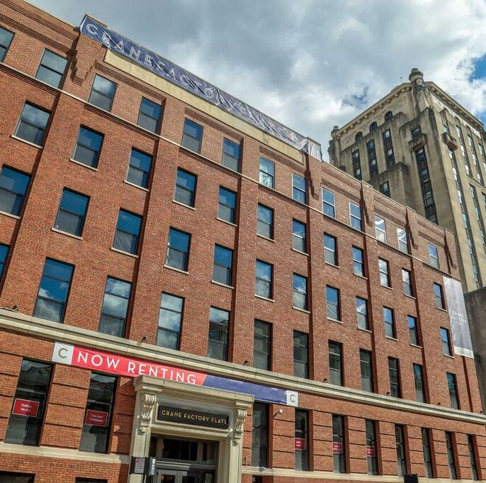 Crane Factory Flats: Newest addition to Downtown's apartment base