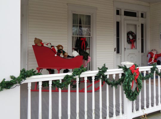 Beautiful decorations are featured inside and outside the Loveland Museum Center.