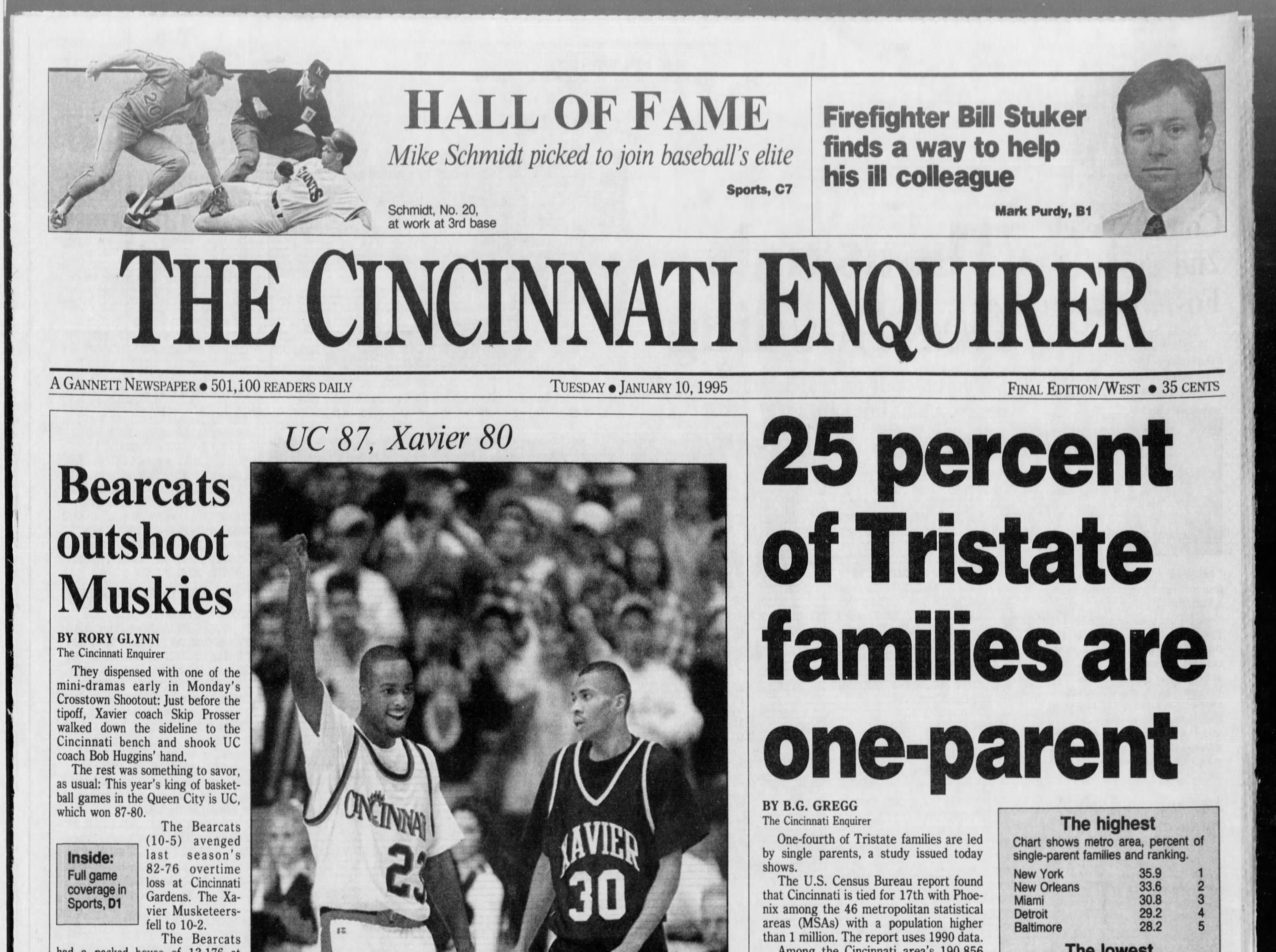 Skip Prosser's first game as Xavier head coach in the Crosstown Shootout ended in disappointment as UC beat the Musketeers in the 1994-95 version.