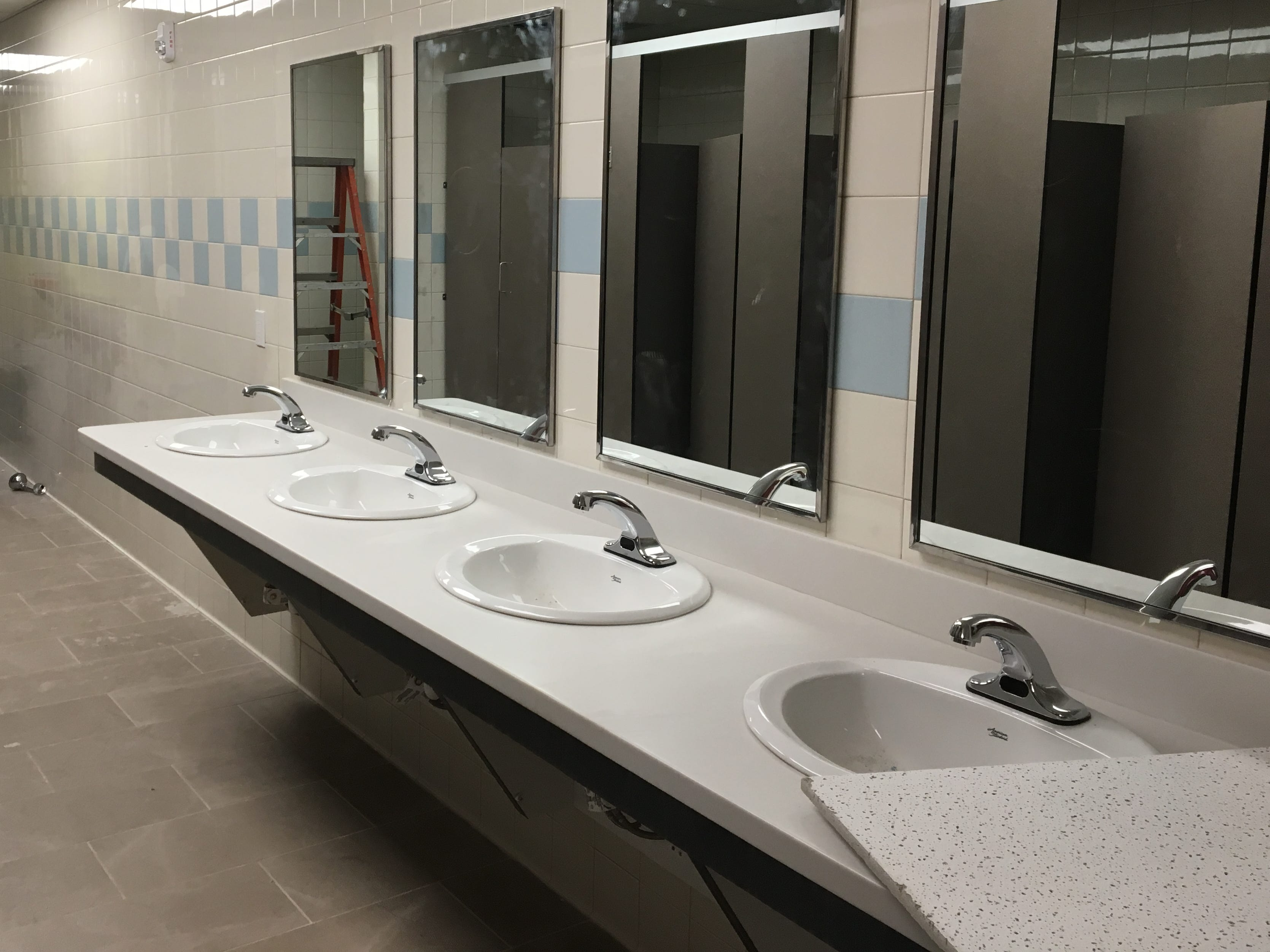 Work continues on the bathrooms. Project 180 is a new 180-bed residential treatment facility. It offers treatment on demand, within 180 minutes, to assist individuals in turning their lives around 180 degrees.