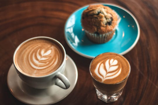 Coffee drinks, muffins and more are available at Lola's Coffee locations in Hyde Park and downtown Cincinnati.