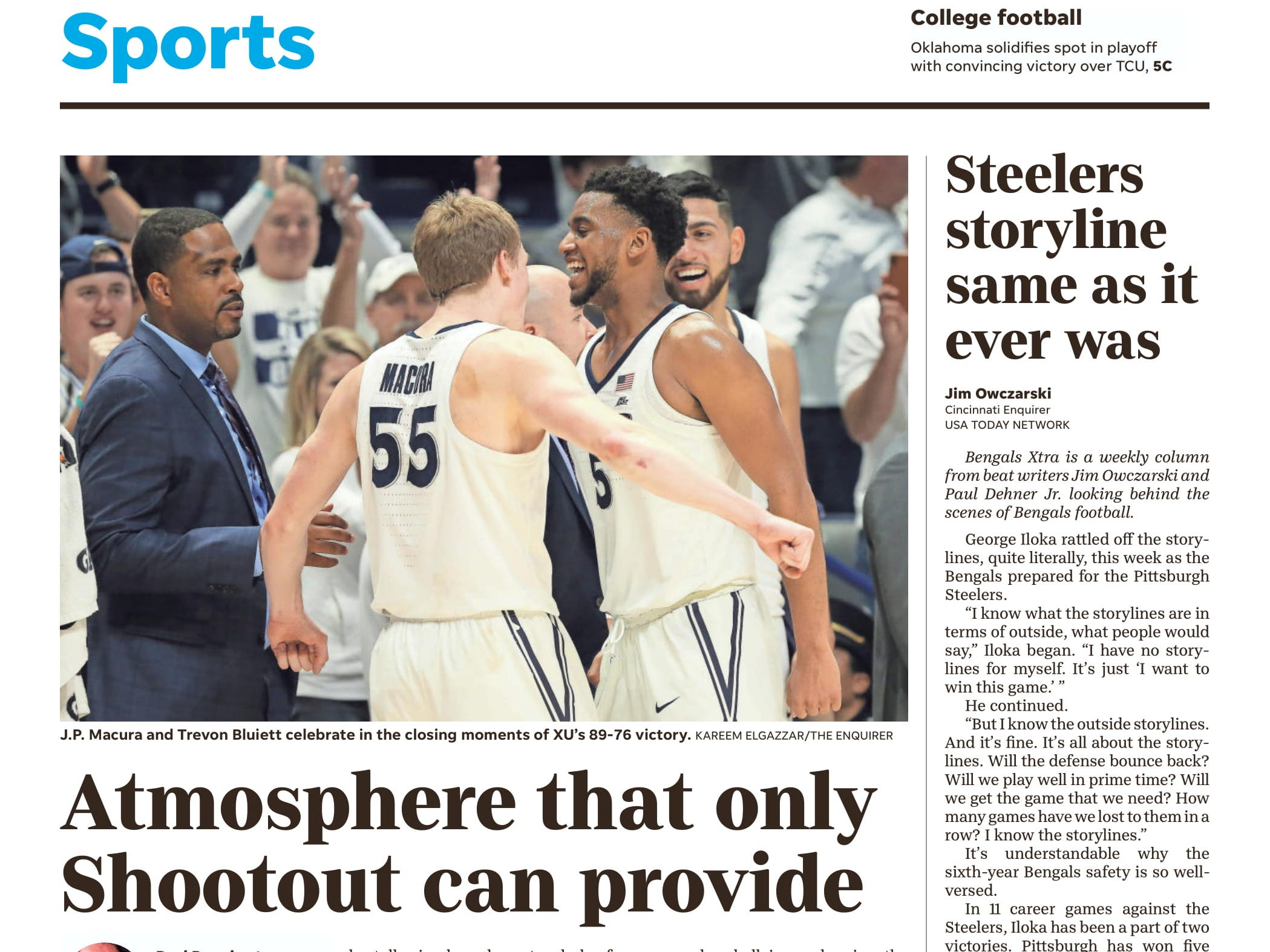 No. 21 Xavier gave No. 11 UC its first loss of the season in the 2017-18 edition of the Crosstown Shootout.