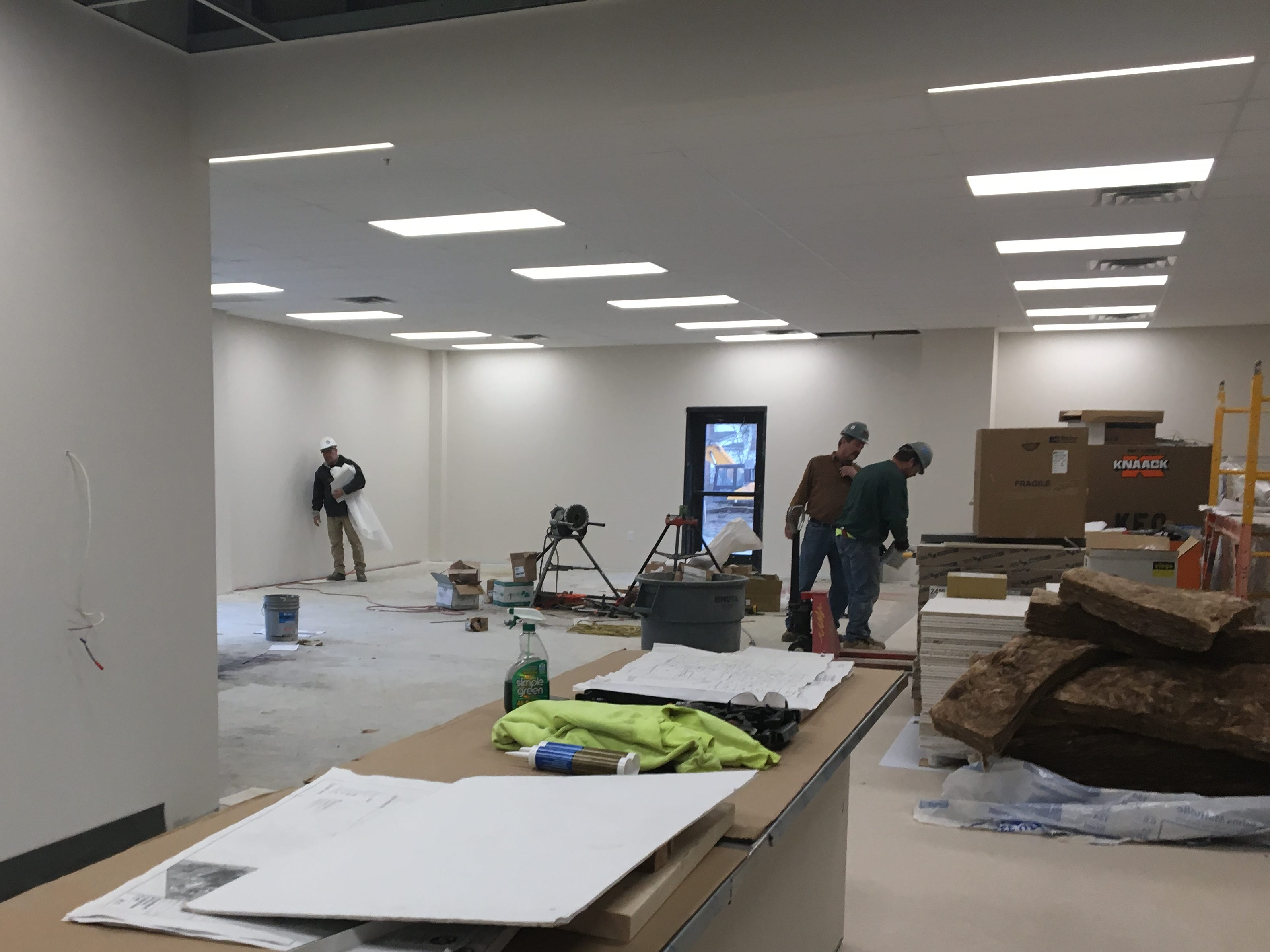 Work continues on the cafeteria. Opening later in December 2018, Project 180 residential treatment facility involved the renovation of Pleasure Isle recreation complex in Erlanger.